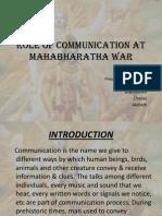 Role of Communication at Mahabharatha War (2)