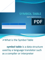 Symbol Table Ppt.