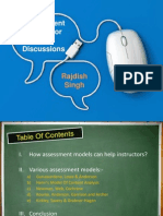 Assessment Models for Online Discussions