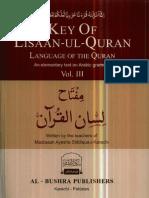 www.kitabosunnat.com Key of Lisaan Ul Quran Vol.3