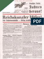 Der Angriff - 1933-01-30 - 7. Jahrgang Nummer 25 (12 S., Scan, Fraktur)
