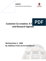 Customer Co-creation a Typology and Research Agenda