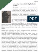 Antispecismo, intervista a Leonardo Caffo