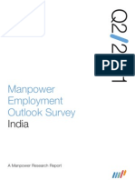 Manpower Employment Outlook Survey India