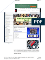 AutoSpeed.com Making a Turbo Manifold DIY
