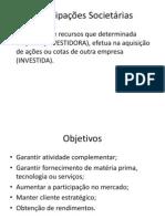 participações societárias método custo