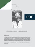 El problema de la existencia de las entidades teóricas - Paul Feyerabend