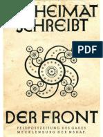 Die Heimat Schreibt Der Front - 1944 Folge 1 (16 S., Scan-Text)