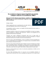 Discurso de Lopez Obrador-Expofraude2012