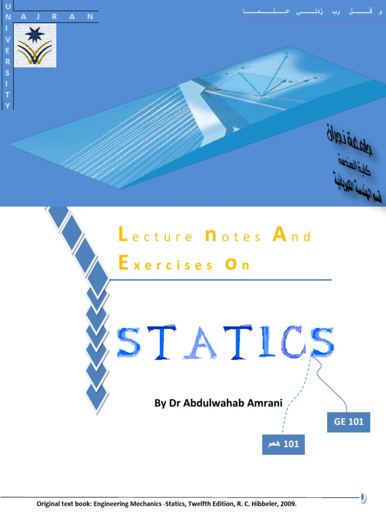 Lecture Notes on Statics | Euclidean Vector | Newton's Laws Of Motion