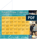 Parent Prayer Calendar