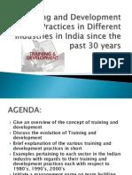 traininganddevelopmentpracticesinindiasincethepast30years-110908234122-phpapp02
