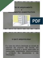 Noções de arquivamento e procedimentos administrativos