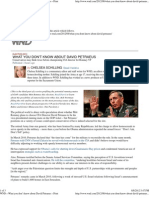 What you don't know about David Petraeus