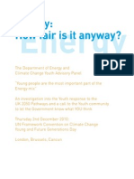 Energy - How fair is it anyway?