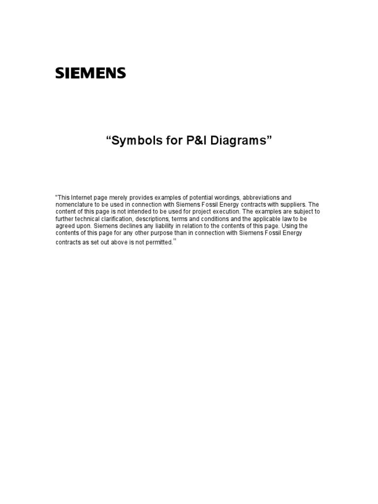 Symbols for P_I Diagrams   Valve   Gas Compressor