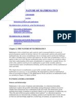 Chapter 2 the Nature of Mathematics