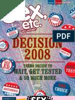 Sex, Etc. Magazine - Fall 2008