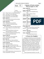 OLP Bulletin 8/12/12