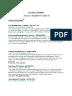 Fall 2012 Adult Class Descriptions