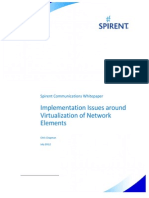 Implementation Issues Around Virtualization of Network Elements