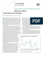 The Efficacy of Monetary Policy