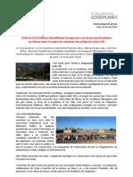Communiqué de Presse - École Bioclimatique, Skoura, Maroc
