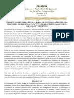 Comunicado de Prensa Reformas Constitucionales Parlamento Xinca