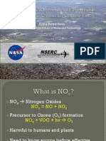 Analysis of a NOX Plume and its Possible Sources in the California Central Valley