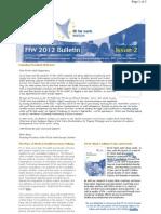 FfW Bulletin 2 - August 2012