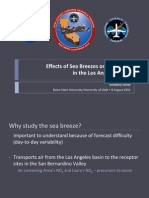 Effects of Sea Breezes on Transport in the Los Angeles Basin