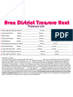 Avon District Treasure Hunt Tuesday