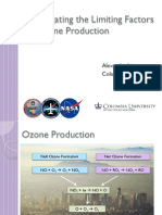 Investigating the Limiting Factors of Ozone Production