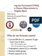 Comparing the Forecasted CMAQ Model to Ozone Observations in the Los Angeles Basin