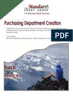 Purchasing Department Creation