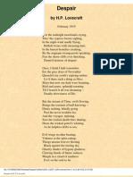 H. P. Lovecraft - Despair