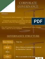 Presentation on Corporate Governance