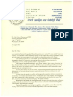 Letter FROM Ian Hancock & Rromani Zor TO John Fahey, NGS CEO