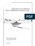 General Guidelines for the Design Of small homogeneous dams