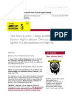 [Amnesty] Tell Shell's CEO