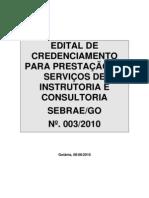 Edital de Credenciamento SEBRAE_GO 003_2010