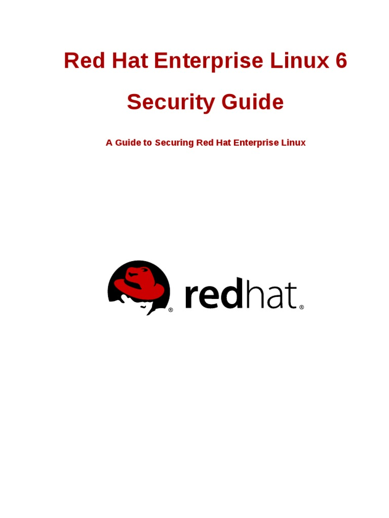 Red Hat Enterprise Linux 6 Security Guide en US | Online Safety & Privacy |  Computer Security