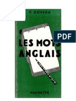 Langues Anglais Hachette Les Mots Anglais (20 000 Mots) F Novion