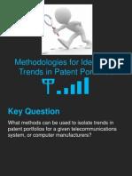 Isolating Trends in Patent Portfolios