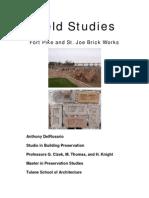 Field Studies 01 - Fort Pike and St Joe Brick Works
