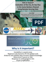 Sink or Source? Evaluation of the CO2 Air-Sea Flux in the Santa Barbara Channel Using Remote Sensing Data