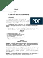 ORDENANZA_303-MSB Sobre Procedimientos y Requisitos Obtencion Licencia Obra y Funcionamiento Centros Educacion