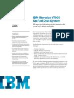 IBM Storwize V7000 - Data Sheet