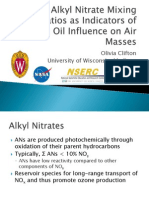 C5 Alkyl Nitrate Mixing Ratios as Indicators of Crude Oil Influence on Air Masses