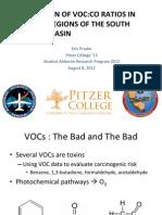 Comparison of VOC:CO Ratios